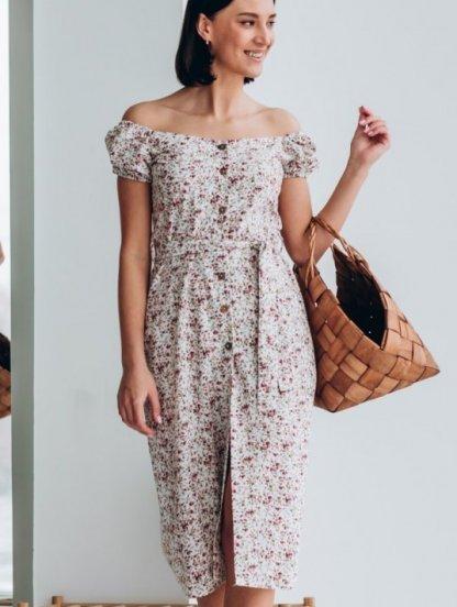 Короткое платье-сарафан на широких бретелях, фото 1