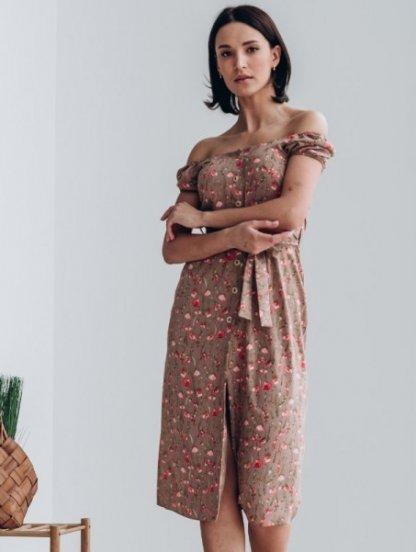 Короткое платье в цветочек, фото 1