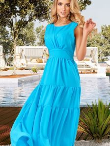 Летнее шифоновое платье с оборками