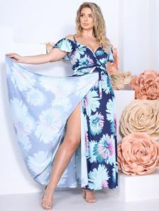Длинное летнее платье сарафан большого размера