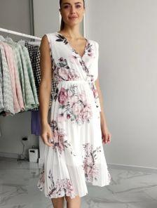 Летнее шифоновое платье без рукавов