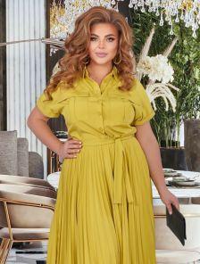 Элегантное летнее платье-сафари большого размера