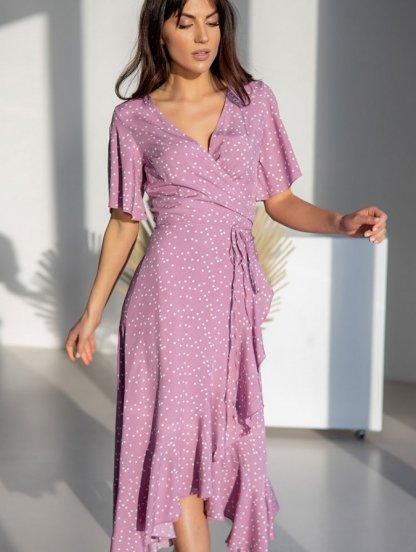 Офисное платье в натуральной ткани штапель, фото 1