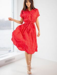 Платье на лето в горошек
