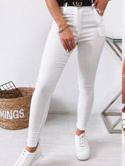 Белые женские брюки скинни с высокой талией, фото 1