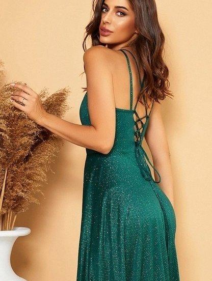 Сияющее вечернее платье в пол, фото 1