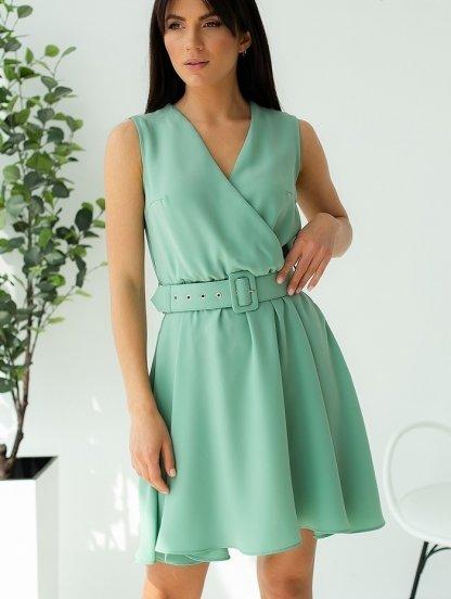 Мятное короткое платье на лето, фото 1