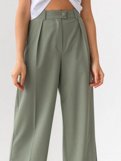 Широкие женские брюки с высокой талией, фото 1