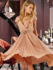 Летнее платье с юбкой гофре