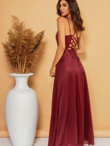 Сияющее вечернее платье в пол