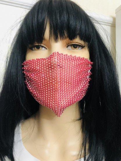 Красная маска со стразами, фото 1