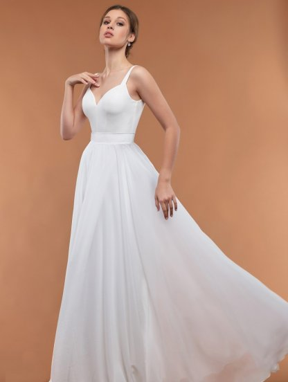 Шифоновое длинное платье в пол, фото 1