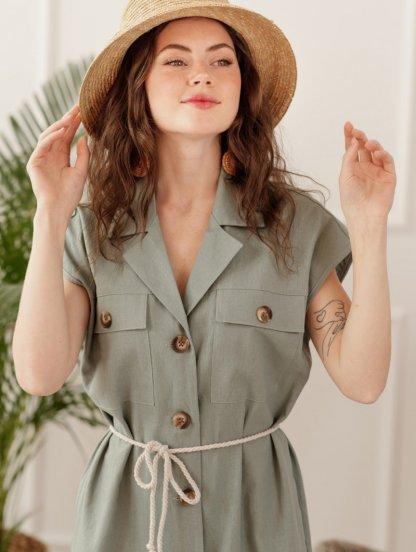 Платье на лето из натурального льна, фото 1