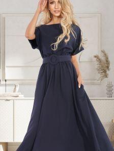 Летнее платье макси-длины с поясом