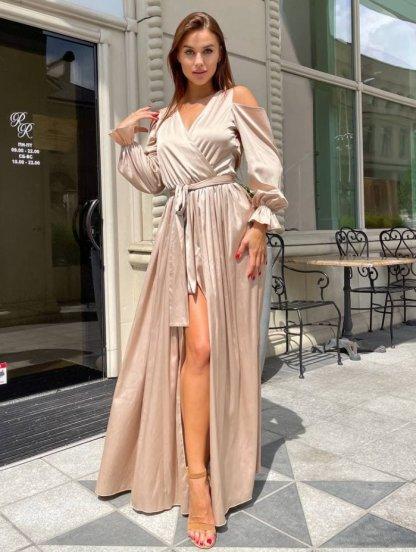 Золотое длинное платье, фото 1
