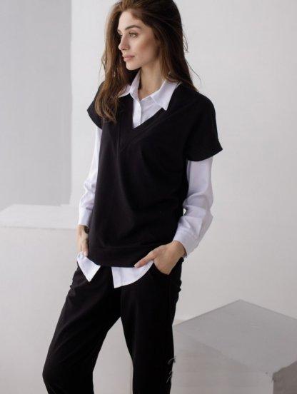 Женский легкий черный костюм, фото 1