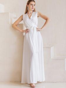Роскошное платье молочного цвета большого размера