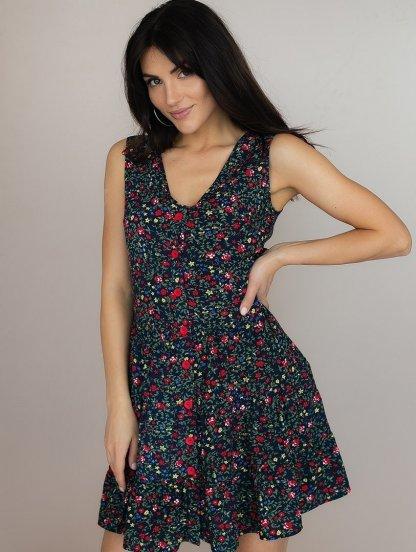 Легкое короткое платье в цветы, фото 1