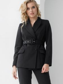 Стильный женский пиджак черного цвета