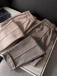 Стильные классические бежевые брюки