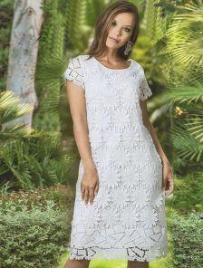 Кружевное платье без рукавов с цветочной вышивкой кружевами