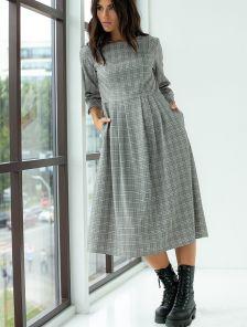 Модное платье длины миди на зиму