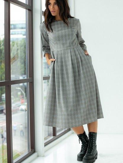 Модное платье длины миди на зиму, фото 1