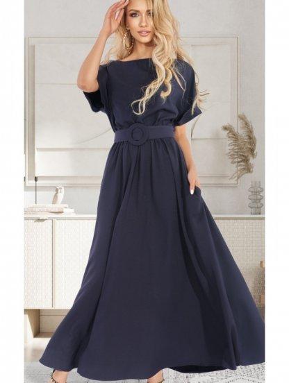 Летнее платье макси-длины с поясом, фото 1