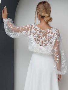 Нарядная накидка в стиле Болеро для вечернего платья