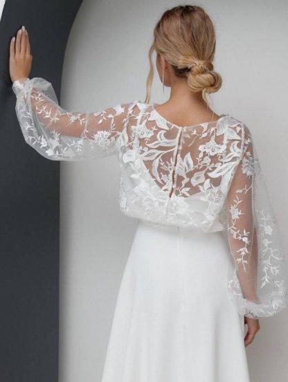 Нарядная накидка в стиле Болеро для вечернего платья, фото 1