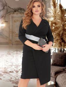 Черное вечернее облегающее силуэтное платья