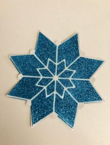 Наклейки на грудь в форме блестящей снежинки