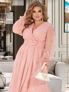 Коктейльное платье розового цвета