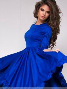 """Кокетливое платье в синем цвете с юбкой """"солнце"""""""
