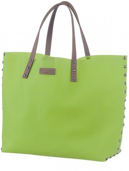 Пляжная сумка салатового цвета с силикона