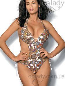 Женский купальник с вырезами по бокам на завязках