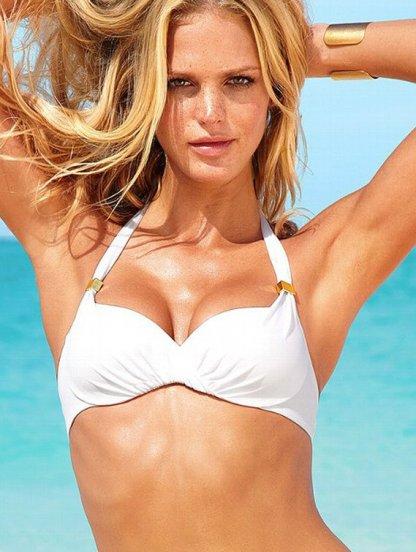Белоснежный верх купальника для большой груди, чашка D, E, реплика Victoria's Secret, фото 1