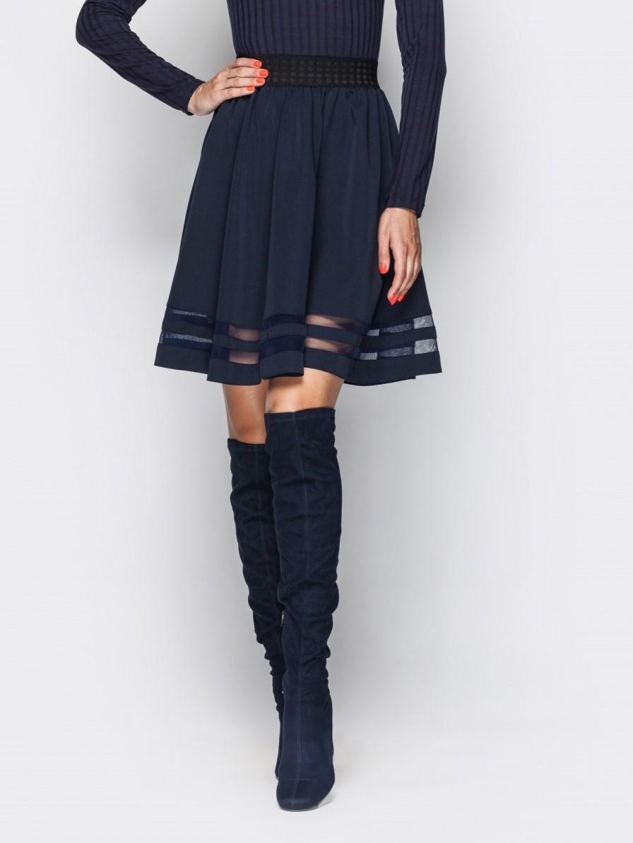 купить женскую синюю юбку