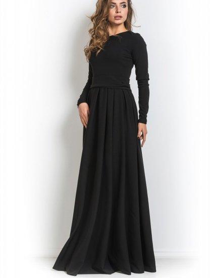 Нарядное класическое черное платье в пол, фото 1