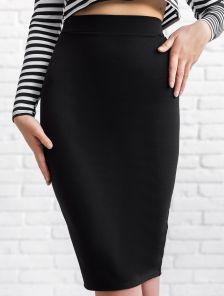 Классическая облегающая черная юбка