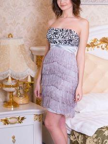 Ретро платье с бахромой в ретро стиле 60-х