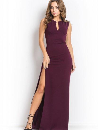 Длинное сексуальное платье с разрезом на ноге, фото 1