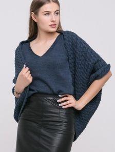 Шерстяная кофта накидка на плечи к юбке или брюкам