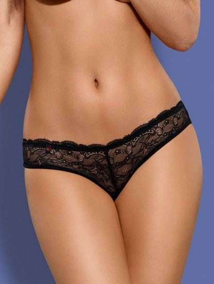 Черные сексуальные кружевные шортики с вырезом на попе, фото 1