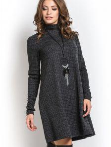 Теплое платье трапеция с горлом