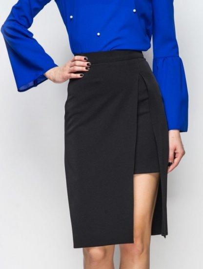 Классическая юбка с имитацией короткой юбки под низом