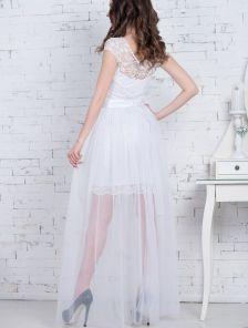 Нарядное белоснежное платье-трансформер