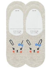 Носочки с изображением зайчика с бантиком