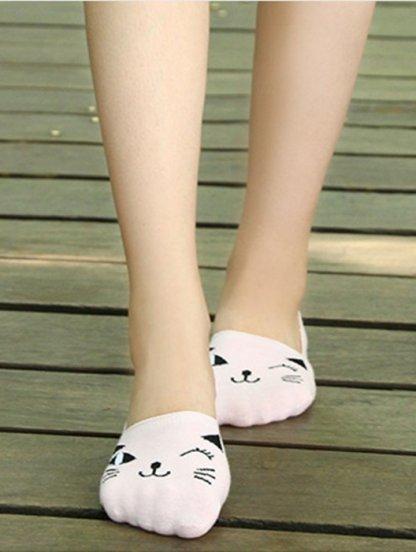 Носочки следки с подмигивающими котиками в ассортименте