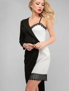 Экстравагантное платье для особых случаев выполненое в стиле комбинации двух самостоятельных изделий